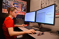 College of Engineering student works on a class project at the Havelock campus.