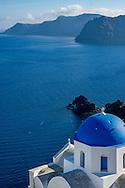 Church in Oia on Santorini, Cyclades Islands, Greece.