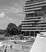 The swimming pool in the Watergate complex in Washington, D.C.