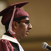 D.A.P.S.S Cadet Vineeth Gutta gives his salutatorian address to students, family and friends comprised of 82 students during D.A.P.S.S inaugural commencement exercise Friday, June 05, 2015, at The Case Center on The River Front in Wilmington, Delaware.