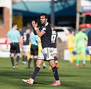 21st April 2018, Dens Park, Dundee, Scotland; Scottish Premier League football, Dundee versus St Johnstone; Sofien Moussa of Dundee at the end