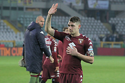 November 19, 2017 - Turin, Piedmont, Italy - Andrea Belotti (Torino FC) apologizes to the fans after a disappointing 1-1 draw after the Serie A football match between Torino FC and AC Chievo Verona at Olympic Grande Torino Stadium on 19 November, 2017 in Turin, Italy. (Credit Image: © Massimiliano Ferraro/NurPhoto via ZUMA Press)