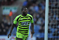Yeovil Town's Ishmael Miller celebrates the first goal of the game. - Photo mandatory by-line: Alex James/JMP - Tel: Mobile: 07966 386802 29/12/2013 - SPORT - FOOTBALL - John Smith's Stadium - Huddersfield - Huddersfield Town v Yeovil Town - Sky Bet Championship