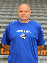 14.07.2015, Scholz Arena, Aalen, GER, 2. FBL, VfR Aalen, Fototermin, im Bild Masseur Achim Haegele ( VfR Aalen ) // during the official Team and Portrait Photoshoot of German 2nd Bundesliga Club VfR Aalen at the Scholz Arena in Aalen, Germany on 2015/07/14. EXPA Pictures © 2015, PhotoCredit: EXPA/ Eibner-Pressefoto/ Langer<br /> <br /> *****ATTENTION - OUT of GER*****