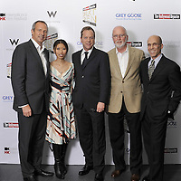 HONG KONG - MARCH 24:    (L-R) Hollywood Reporter's Senior VP, Publishing Director Eric Mika, Executive Director of the Hong Kong International Film Festival Society Soo-Wei Shan, actor Kiefer Sutherland, Nielsen Consultant Gerry Byrne and Dreamworks CEO of Animation Jeffery Katzenberg attend The Hollywood Reporter Next Gen Asia Launch Cocktail Reception event at the W Hotel Kowloon on March 24, 2009 in Hong Kong. The initiative has recognised over 500 individuals under 35 over the last 15 years, and is run in conjunction with the Hong Kong International Film Festival.  Photo by Victor Fraile / studioEAST
