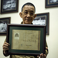 Haji Shamsuri Haji Suradi, secretary for Malay Agriculture Settlement (MAS) Kampung Baru shows the building plan submitted to MAS for approval dated 28 Nov 1931 at his office in Kampung Baru, Kuala Lumpur, Malaysia, 19 April 2017. The Kampung Baru was gazetted in 1900 and is the only village in Malaysia (formerly known as Malaya) has its own legislation supervised by the MAS.