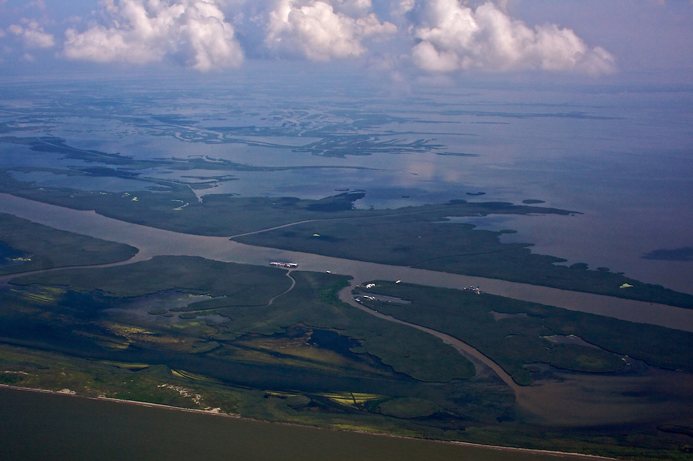 Port Eads, end of South Pass, Louisiana, USA