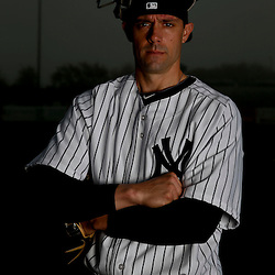 Feb 20, 2013; Tampa, FL, USA; New York Yankees catcher Chris Stewart (19) during photo day at Steinbrenner Field. Mandatory Credit: Derick E. Hingle-USA TODAY Sports