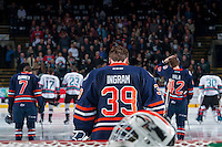KELOWNA, CANADA - MARCH 26: Connor Ingram #39 of Kamloops Blazers stands in net against the Kelowna Rockets on March 26, 2016 at Prospera Place in Kelowna, British Columbia, Canada.  (Photo by Marissa Baecker/Shoot the Breeze)  *** Local Caption *** Connor Ingram;