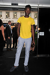 NATHAN STEWART-JARRETT at a party to launch the Gucci designed Fiat 500 customized by Gucci Creative Director Frida Giannini in collaboration with FIAT's Centro Stile, held at Fiat, 105 Wigmore Street, London on 27th June 2011.