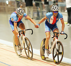 (Melbourne, Australia---08 April 2012) The Czech Republic during the Madison at the 2012 UCI Track Cycling World Championships.Copyright 2012 Sean Burges / Mundo Sport Images.