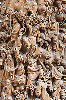 carving statue in the The Jade Buddha Temple Shanghai China