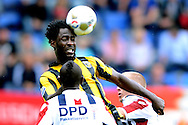 Onderwerp/Subject: Willem II - Vitesse - Eredivisie<br /> Reklame:  <br /> Club/Team/Country: <br /> Seizoen/Season: 2012<br /> FOTO/PHOTO: Virgil MISIDJAN (FRONT) of Willem II in duel with Wilfried BONY ( Wilfried Guemiand BONY ) (UP) of Vitesse. (Photo by PICS UNITED)<br /> <br /> Trefwoorden/Keywords: <br /> #04 $94 ±1341400688360<br /> Photo- & Copyrights © PICS UNITED <br /> P.O. Box 7164 - 5605 BE  EINDHOVEN (THE NETHERLANDS) <br /> Phone +31 (0)40 296 28 00 <br /> Fax +31 (0) 40 248 47 43 <br /> http://www.pics-united.com <br /> e-mail : sales@pics-united.com (If you would like to raise any issues regarding any aspects of products / service of PICS UNITED) or <br /> e-mail : sales@pics-united.com   <br /> <br /> ATTENTIE: <br /> Publicatie ook bij aanbieding door derden is slechts toegestaan na verkregen toestemming van Pics United. <br /> VOLLEDIGE NAAMSVERMELDING IS VERPLICHT! (© PICS UNITED/Naam Fotograaf, zie veld 4 van de bestandsinfo 'credits') <br /> ATTENTION:  <br /> © Pics United. Reproduction/publication of this photo by any parties is only permitted after authorisation is sought and obtained from  PICS UNITED- THE NETHERLANDS