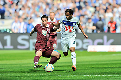 21.04.2012, Olympiastadion, Berlin, GER, 1. FBL, Hertha BSC Berlin vs 1. FC Kaiserslautern, 32. Spieltag, im Bild Ariel BORYSIUK (1. FC Kaiserslautern/links) im Duell mit Raffael (Hertha BSC) // during the German Bundesliga Match, 32th Round between Hertha BSC Berlin and 1. FC Kaiserslautern at the Olympiastadium, Berlin, Germany on 2012/04/21. EXPA Pictures © 2012, PhotoCredit: EXPA/ Eibner/ Johannes Koziol..***** ATTENTION - OUT OF GER *****