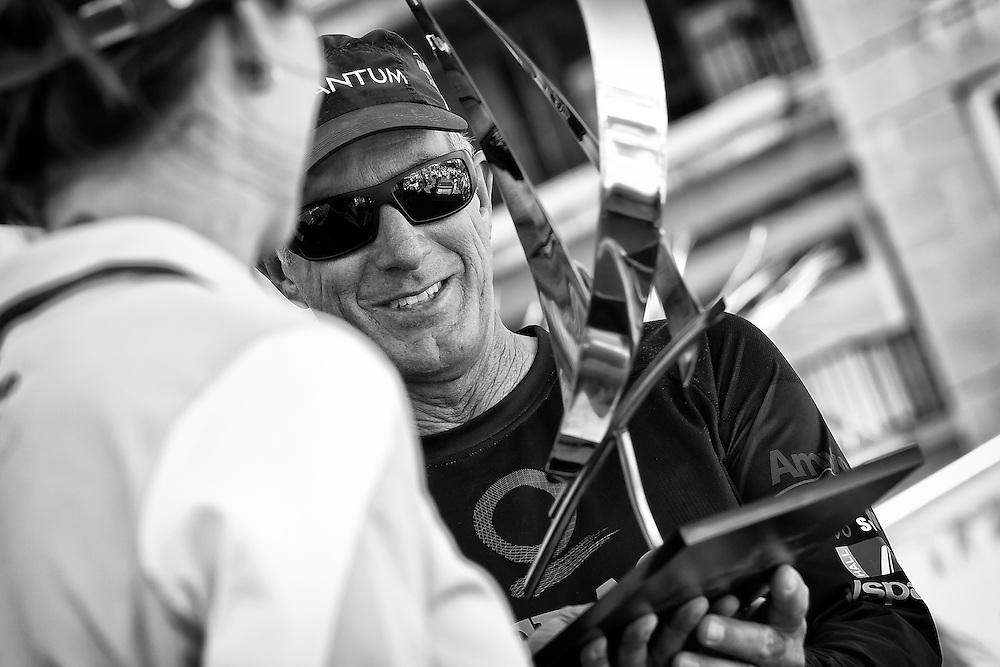 FRANCE, Marseille. 19th June 2011. AUDI MedCup Marseille Trophy. Ed Baird, helmsman, TP52, Quantum Racing during the prizegiving.