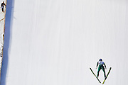 Zakopane, Poland - 2017 January 20: Gregor Schlierenzauer from Austria soars through the air during Large Hill Individual FIS Ski Jumping World Cup 2017 at Wielka Krokiew on January 20, 2017 in Zakopane, Poland.<br /> <br /> Adam Nurkiewicz declares that he has no rights to the image of people at the photographs of his authorship.<br /> <br /> Picture also available in RAW (NEF) or TIFF format on special request.<br /> <br /> Any editorial, commercial or promotional use requires written permission from the author of image.<br /> <br /> Mandatory credit:<br /> Photo by &copy; Adam Nurkiewicz / Mediasport