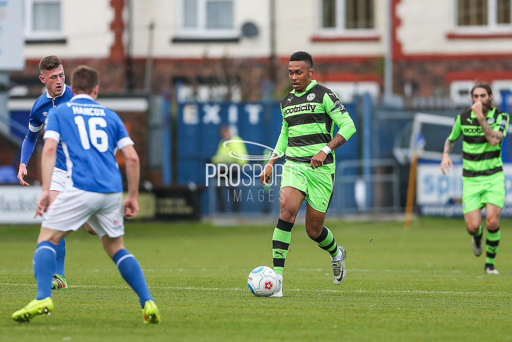Forest Green Rovers Keanu Marsh-Brown(7) runs forward during the Vanarama National League match between Macclesfield Town and Forest Green Rovers at Moss Rose, Macclesfield, United Kingdom on 12 November 2016. Photo by Shane Healey.