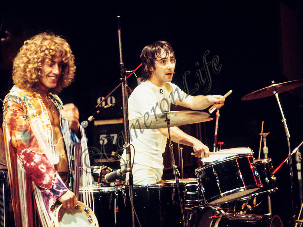 Roger Daltrey & Keith Moon (The Who)- Isle of Wight Music Festival 1970, by Charles Everest.