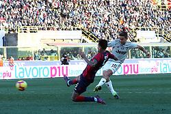 """Foto LaPresse/Filippo Rubin<br /> 24/02/2019 Bologna (Italia)<br /> Sport Calcio<br /> Bologna - Juventus - Campionato di calcio Serie A 2018/2019 - Stadio """"Renato Dall'Ara""""<br /> Nella foto: GOAL PAULO DYBALA (JUVENTUS)<br /> <br /> Photo LaPresse/Filippo Rubin<br /> February 24, 2019 Bologna (Italy)<br /> Sport Soccer<br /> Bologna vs Juventus - Italian Football Championship League A 2018/2019 - """"Renato Dall'Ara"""" Stadium <br /> In the pic: GOAL PAULO DYBALA (JUVENTUS)"""