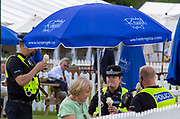 Henley on Thames, England, United Kingdom, 3rd July 2019, Henley Royal Regatta, The Local Force, enjoy, an Ice Cream,  Henley Reach, [© Peter SPURRIER/Intersport Image]<br />