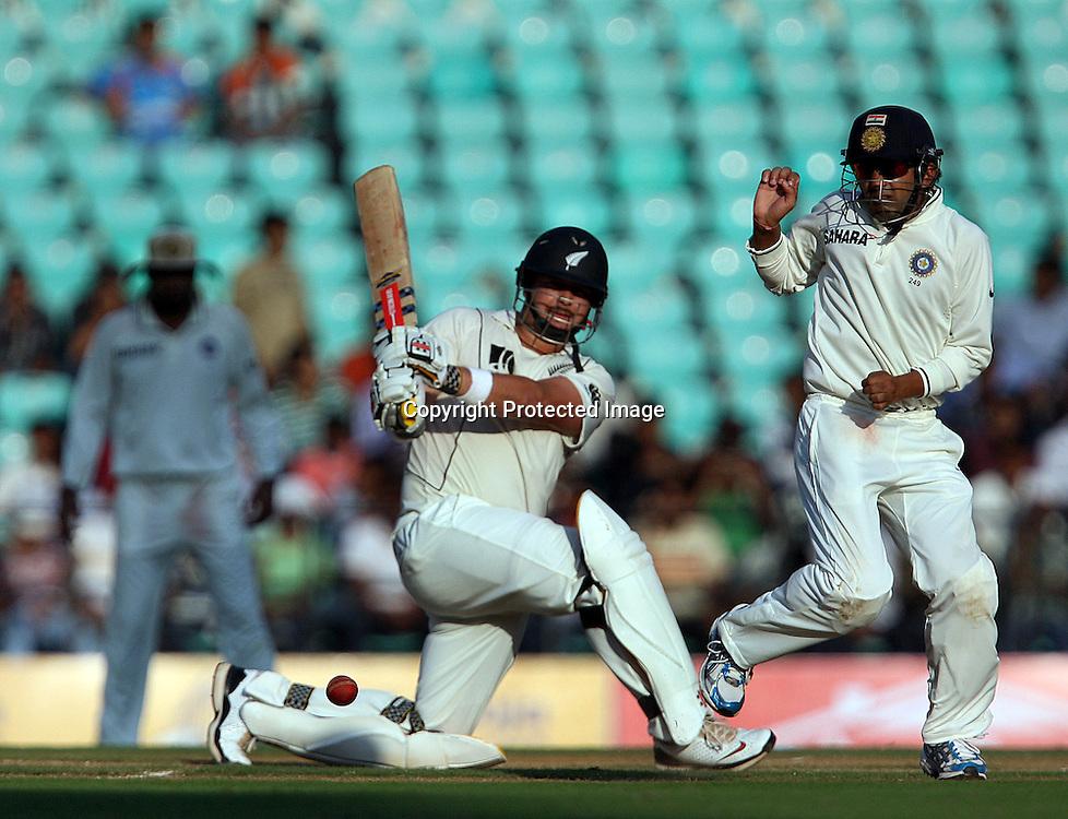 New Zealand batsman Jesse Ryder takes shot Against India during 3rd test match India vs New Zealand  Played at Vidarbha Cricket Association Stadium, Jamtha, Nagpur, 20, November 2010 (5-day match)