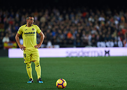 January 26, 2019 - Valencia, Valencia, Spain - Santiago Cazorla of Villarreal CF during the La Liga Santander match between Valencia and Villarreal at Mestalla Stadium on Jenuary 26, 2019 in Valencia, Spain. (Credit Image: © Maria Jose Segovia/NurPhoto via ZUMA Press)