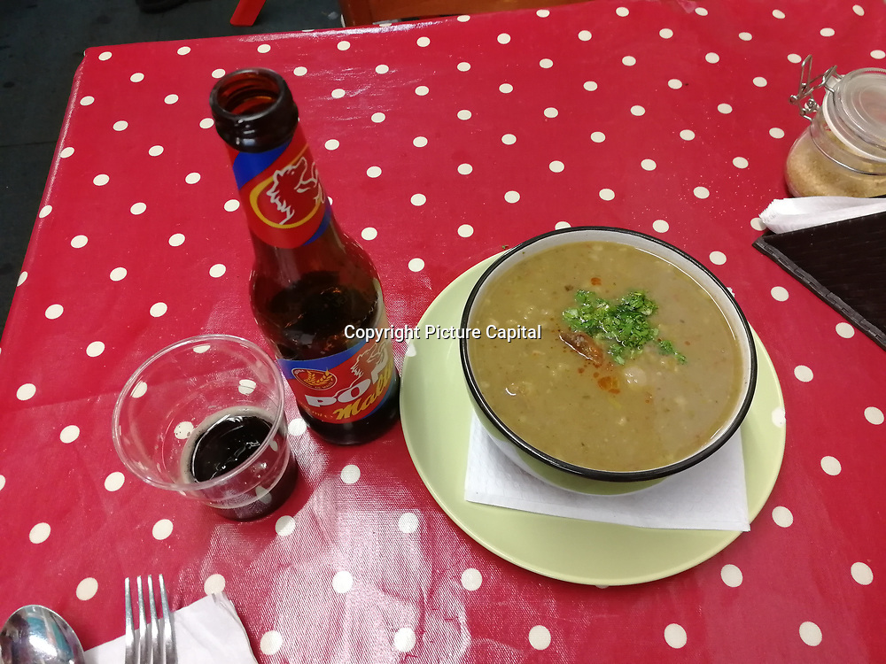 London, UK. 1 June 2019. Soup of the day and a beef meal and 2 bottle of Pony Malta at the Latin Market in Seven sister and meet Diana sit next at my table. The first look at her she gorgeous and her smile is so sweet and she single. And I ask her can I take a picture of you for instagram she say OK. We have a small talk and she so easy to talk to her. She is waiting for her mother to finish her hair cut. And her mother cones say hello and they both walk away very sad indeed. I was thinking getting to know her a little bit better. Oh well, better luck next time. Now I has to go to the Latin Market to have more meal and hope. To see her again. Xx