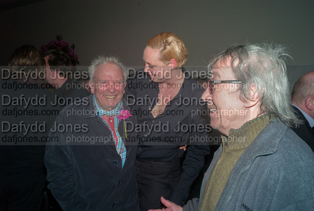 GWENDOLINE CHRISTIE; DAVID BAILEY; BILL WYMAN, Opening of Bailey's Stardust - Exhibition - National Portrait Gallery London. 3 February 2014