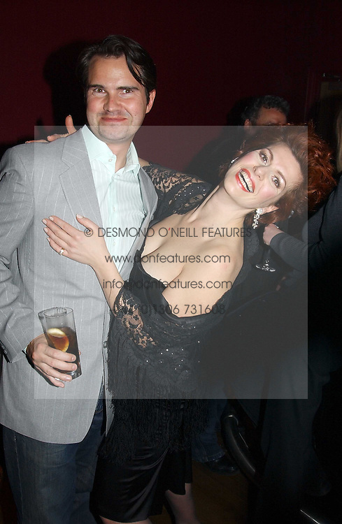JIMMY CARR and CLEO ROCCOS at a party to celebrate the publication of Paul McKenna's new book 'I Can Make You Thin' held at the Soho Hotel, 4 Richmond Mews, London W1 on 8th March 2005.<br /><br />NON EXCLUSIVE - WORLD RIGHTS