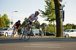 Kasia Niewiadoma (Rabo Liv) sets the pace for the breakaway two at the 103 km Stage 1 of the Boels Ladies Tour 2016 on 30th August 2016 in Tiel, Netherlands. (Photo by Sean Robinson/Velofocus).