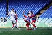 Goal, Ryan Edmondson of Leeds United U23 scores, Crystal Palace U23 0-1 Leeds United U23 during the U23 Professional Development League match between U23 Crystal Palace and Leeds United at Selhurst Park, London, England on 15 April 2019.