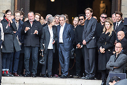 Charlotte Rampling, Jean Jacques Bourdin and Bradley Cooper attend Peter Lindbergh's funerals at Eglise Saint-Sulpice in Paris, France on September 24, 2019. Photo by Nasser Berzane/ABACAPRESS.COM