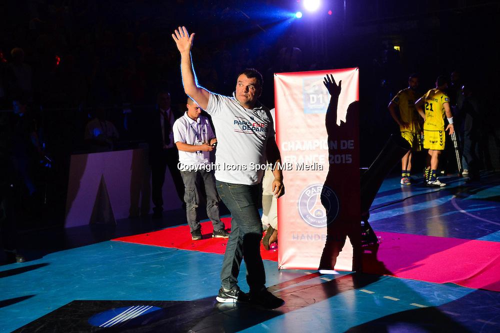 Joie PSG - Philippe GARDENT - 04.06.2015 - Tremblay en France / Paris Saint Germain - 26eme journee de Division 1  -Beauvais<br />Photo : Dave Winter / Icon Sport