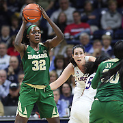 STORRS, CONNECTICUT- NOVEMBER 17: Beatrice Mompremier #32 of the Baylor Bears in action during the UConn Huskies Vs Baylor Bears NCAA Women's Basketball game at Gampel Pavilion, on November 17th, 2016 in Storrs, Connecticut. (Photo by Tim Clayton/Corbis via Getty Images)