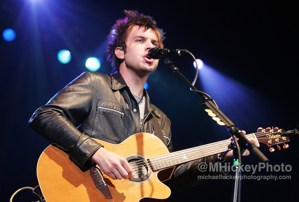 Howie Day performs at the Pepsi Coliseum during the RadioNow 93.1Santa Slam concert Dec 14, 2005 in Indianapolis, IN. Photo by Michael Hickey
