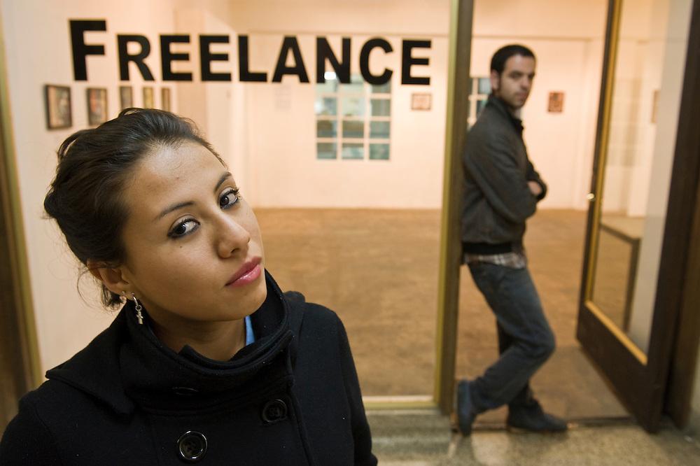 Ximena Jasso and Ruben Franco Notch, Freelance art gallery, Tijuana...© Stefan Falke.http://www.stefanfalke.com/..