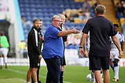 Mansfield Town manager Steve Evans remonstrating with the officials during the EFL Sky Bet League 2 match between Mansfield Town and Luton Town at the One Call Stadium, Mansfield, England on 26 August 2017. Photo by Nigel Cole.