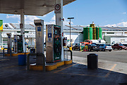 Tecamachalco, Mexico – March 27, 2017: Fuel station of Petróleos Mexicanos (PEMEX).