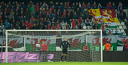 OSIJEK, CROATIA - Tuesday, October 16, 2012: Wales' goalkeeper Lewis Price looks dejected as Croatia score the opening goal during the Brazil 2014 FIFA World Cup Qualifying Group A match at the Stadion Gradski Vrt. (Pic by David Rawcliffe/Propaganda)