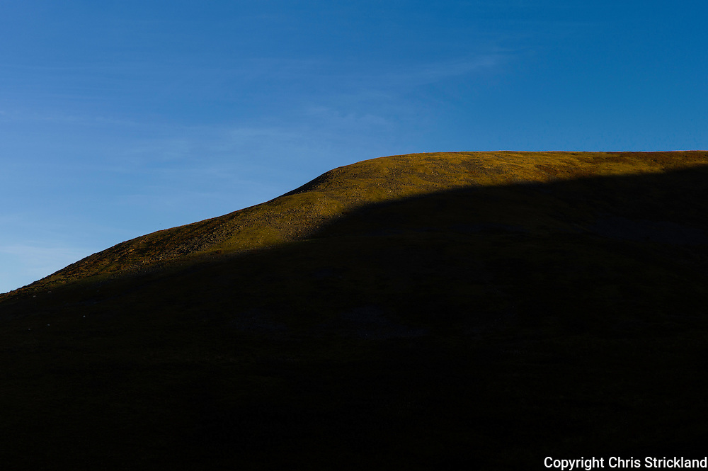 Heatherhope, Hownam, Kelso, Scotland, UK. 1st October 2015. The sun begins to light up the hilltops over Heatherhope in the Cheviot Hills just inside the Scottish border.