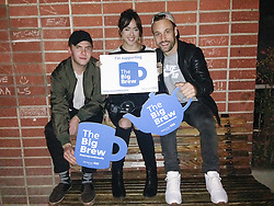 "© Licensed to London News Pictures . 19/01/2015 . Liverpool , UK . Iain De Caestecker , Chloe Bennet and Nick Blood from Agents of Shield . Celebrities pose with "" Big Brew "" placards in support of mental health awareness as today (19th January 2015) marks "" Blue Monday "" , the day regarded by many as the most depressing in the year . Campaigners are urging the public to show support by tweeting sefies with their favourite brew and the hashtag "" #brewfie "" . In London , Deputy Prime Minister Nick Clegg , is announcing his campaign to improve mental health awareness , reduce stigma and promote a "" zero ambition "" target for suicide . Photo credit : Joel Goodman/LNP"