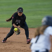 29 April 2016: The San Diego State softball team opened up a weekend series against Utah State Friday night. The Aztecs beat Aggies 5-4 to take the first game of the series