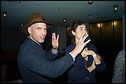 OLIVER CHANARIN; AMALIA PIKA; RENA S, Frieze party, ACE hotel Shoreditch. London. 18 October 2014