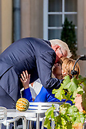 27-9-2017 LUXEMBURG - Elke Buedenbender and German President Frank-Walter Steinmeier, President of Switzerland Doris Leuthard and Roland Hausin, Belgium Queen Mathilde and Belgium King Phillipe, Luxembourg Grand Duke Henri and Luxembourg Grand Duchess Maria Teresa, Alois, Hereditary Prince of Liechtenstein and Sophie, Hereditary Princess of Liechtenstein, Doris Schmidauer and Austrian President Alexander Van der Bellen prior to the 14th informal meeting of the Chiefs of State of the German Speaking countries at the 'Abbaye de Neumunster' in Luxembourg, 27 September 2017. Germany, Austria, Switzerland, Liechtenstein and Belgium are invited to the meeting held in Luxembourg.