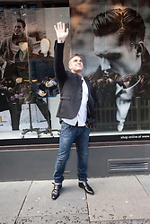 Robbie Williams at House of Fraser Glasgow to launch the AW12 Farrell clothing collection.