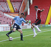 Dundee's Paul McGinn and Sheffield United's Jamie Murphy - Sheffield United v Dundee, pre season friendly at Bramall Lane<br /> <br />  - &copy; David Young - www.davidyoungphoto.co.uk - email: davidyoungphoto@gmail.com