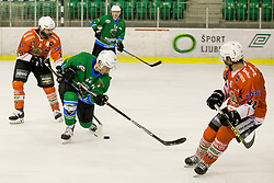 SELAN Maks of HK SZ Olimpija during hockey match between HK SZ Olimpija (SLO) and Rittner Buam (ITA) in 1st round of Alps Hockey League 2017/18, on September 13, 2017 in Tivoli, Ljubljana, Slovenia. Photo by Urban Urbanc / Sportida