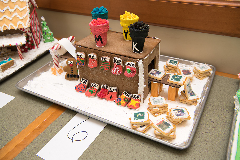 Ohio Today won the People's choice award at this year's gingerbread house decoration competiiton. Photo by Ben Siegel