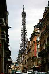 FRANCE PARIS 27JUL07 - General view of the Eiffel Tower from a sidestreed in central Paris.. . jre/Photo by Jiri Rezac. . © Jiri Rezac 2007. . Contact: +44 (0) 7050 110 417. Mobile:  +44 (0) 7801 337 683. Office:  +44 (0) 20 8968 9635. . Email:   jiri@jirirezac.com. Web:    www.jirirezac.com. . © All images Jiri Rezac 2007 - All rights reserved.