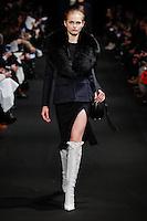 Aneta Pajak (DNA) walks the runway wearing Altuzarra Fall 2015 during Mercedes-Benz Fashion Week in New York on February 14, 2015